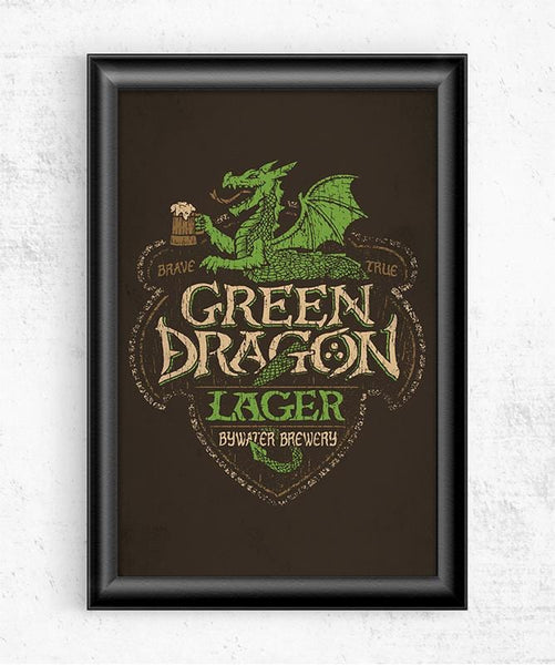 Green Dragon Lager Posters by Cory Freeman Design - Pixel Empire