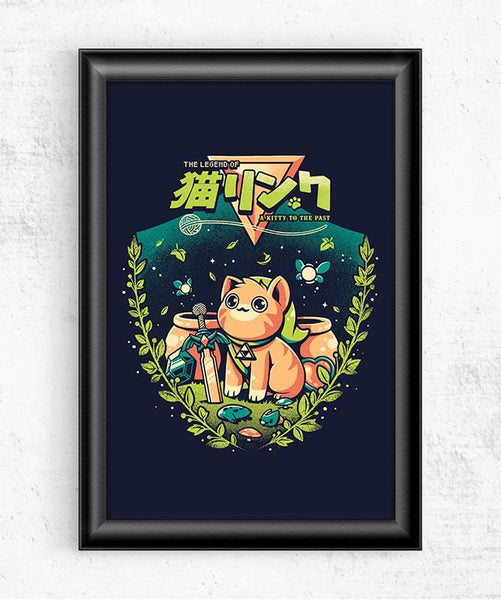 A Kitty to the Past Posters by Ilustrata - Pixel Empire
