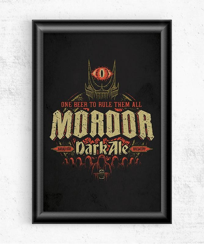 Mordor Dark Ale Posters by Cory Freeman Design - Pixel Empire