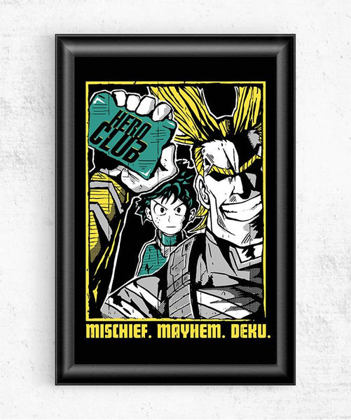 Hero Club Posters by Tee No Evil - Pixel Empire
