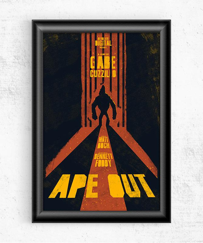 Ape Out Posters by Felix Tindall - Pixel Empire