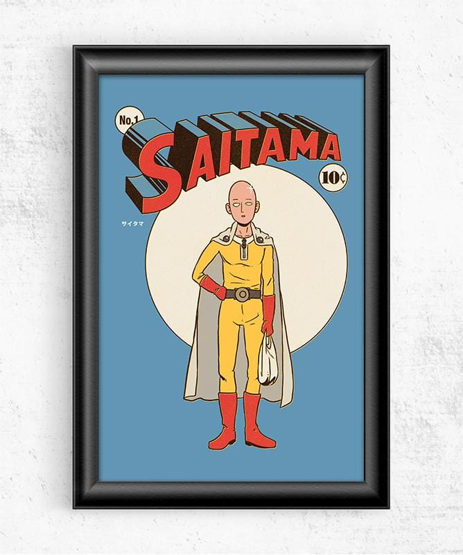 Saitama Posters by Mathiole - Pixel Empire