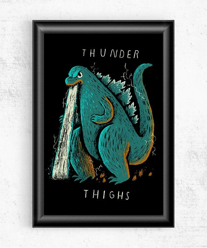 Thunder Thighs Posters by Louis Roskosch - Pixel Empire