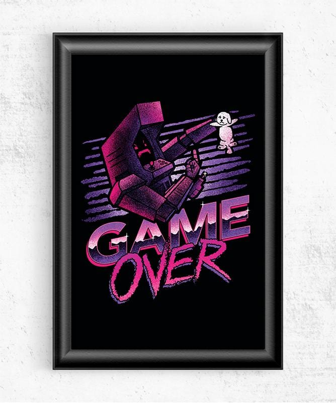 Game Over Posters by Cory Freeman Design - Pixel Empire