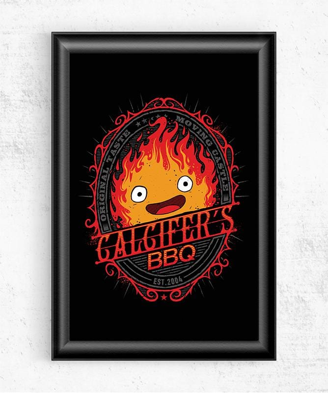 Calcifer's BBQ Posters by StudioM6 - Pixel Empire