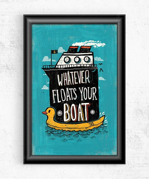 Whatever Floats Your Boat Posters by Ronan Lynam - Pixel Empire