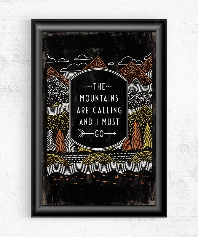 The Mountains Are Calling Posters by Ronan Lynam - Pixel Empire