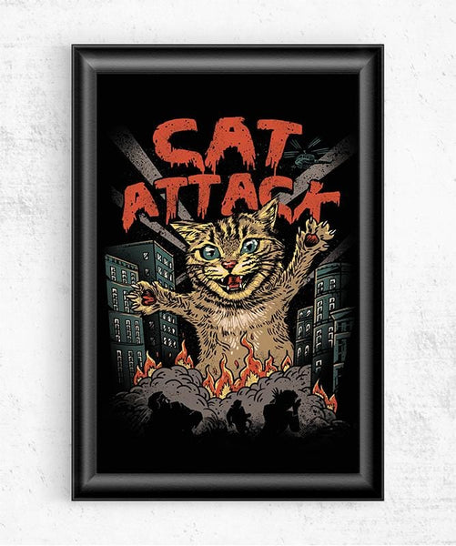 Cat Attack Posters by Vincent Trinidad - Pixel Empire