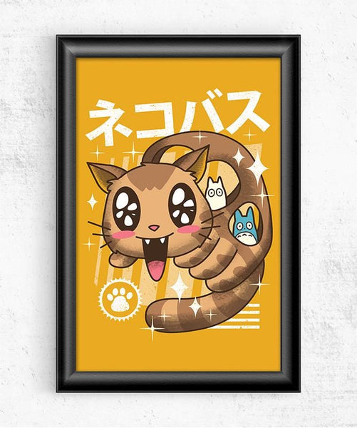 Kawaii Nekobasu Posters by Vincent Trinidad - Pixel Empire