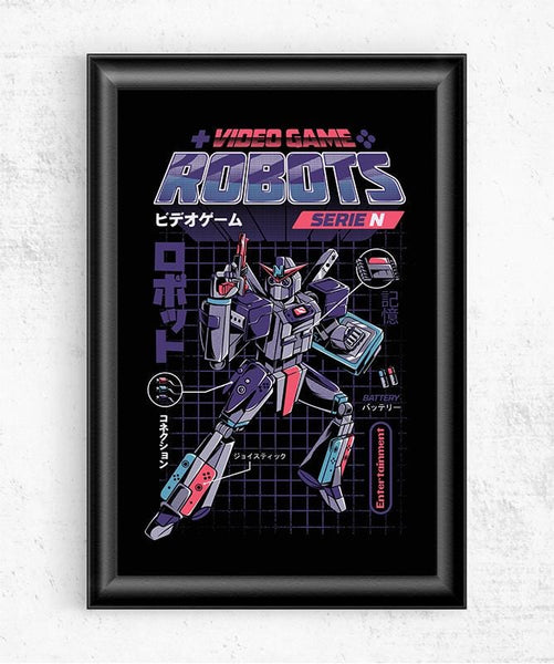 Video Game Robot - Model N Posters by Ilustrata - Pixel Empire