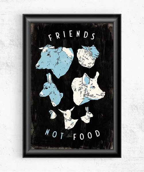 Friends Not Food Posters by Ronan Lynam - Pixel Empire