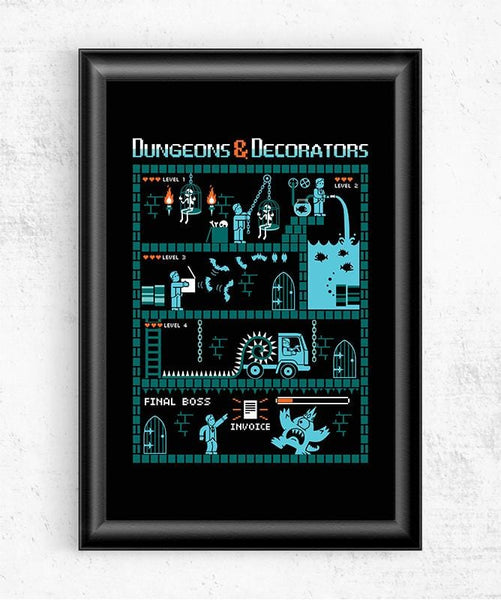 Dungeons and Decorators Posters by Eduardo San Gil - Pixel Empire