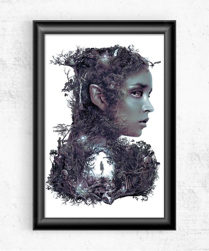 Lady of the Dark Wood Posters by Barrett Biggers - Pixel Empire