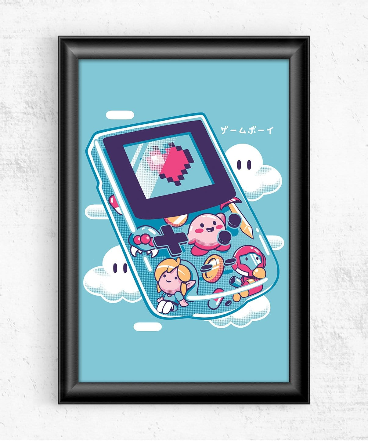 Gameboy Folks Posters by Ilustrata - Pixel Empire