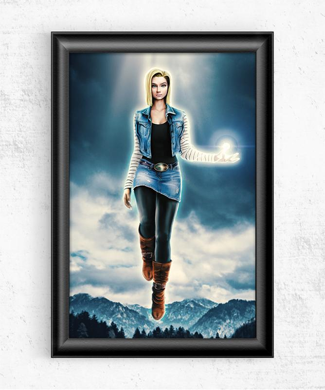 Android 18 Posters by Barrett Biggers - Pixel Empire