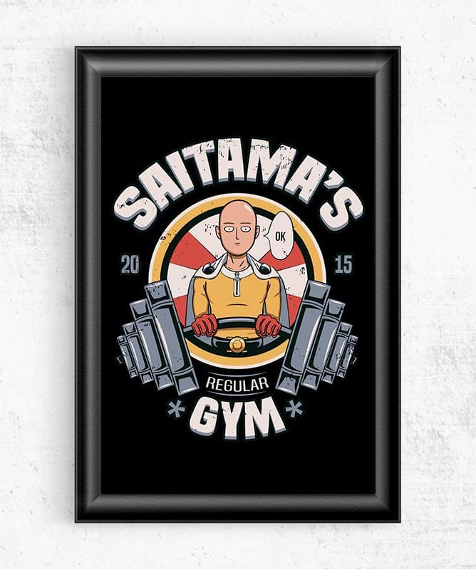 Saitama's Gym Posters by Typhoonic - Pixel Empire