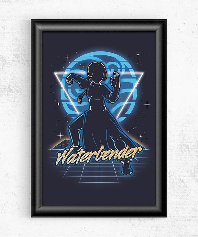 Retro Waterbender Posters by Olipop - Pixel Empire