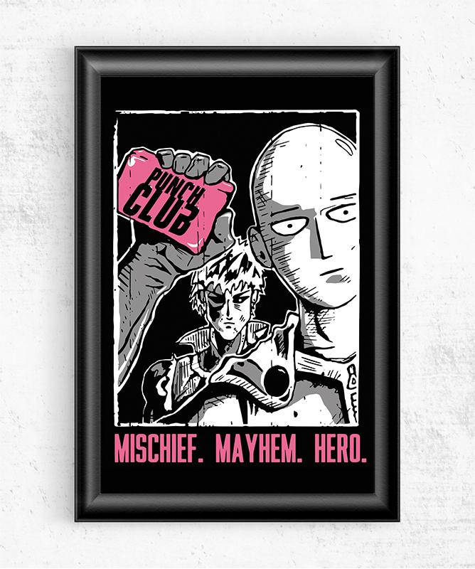 Punch Club Posters by Tee No Evil - Pixel Empire
