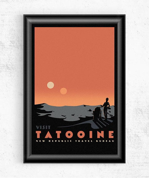 Visit Tatooine Posters by Mathiole - Pixel Empire
