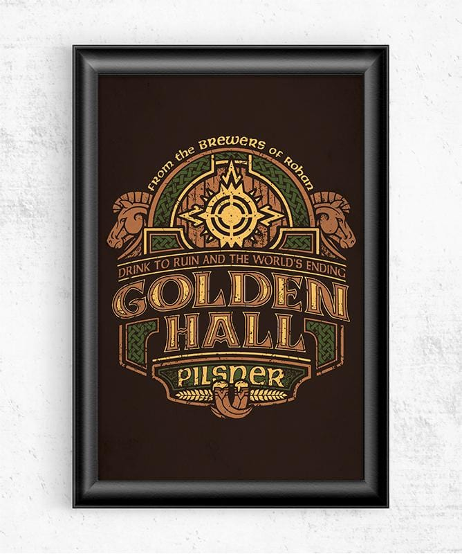 Golden Hall Pilsner Posters by Cory Freeman Design - Pixel Empire