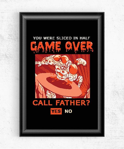 Game Over Frieza Posters by COD Designs - Pixel Empire