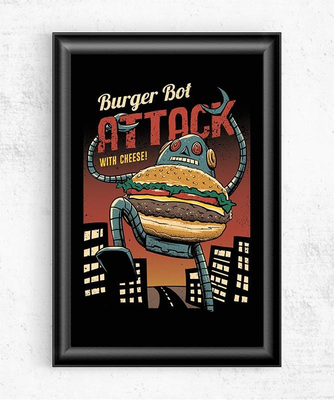Burger Bot Posters by Vincent Trinidad - Pixel Empire