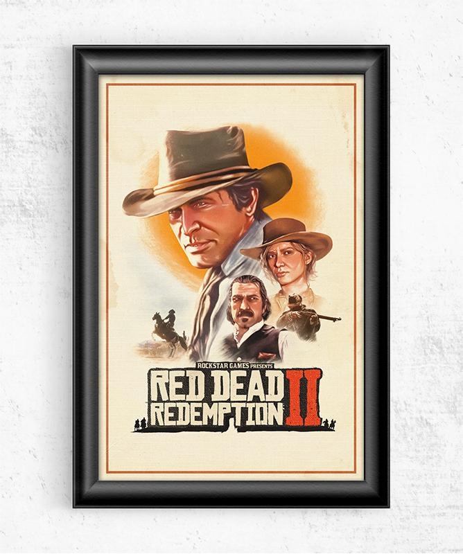 Retro Red Dead Redemption 2 Posters by The Usher Designs - Pixel Empire