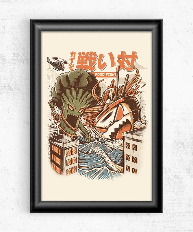 Broccoli vs Ramen Posters by Ilustrata - Pixel Empire