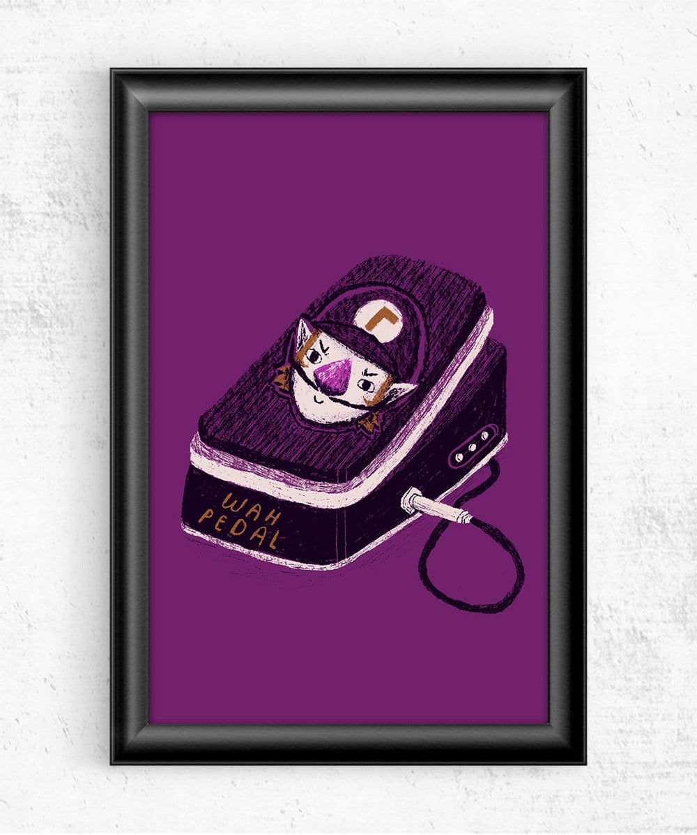 Wah Pedal Posters by Louis Roskosch - Pixel Empire