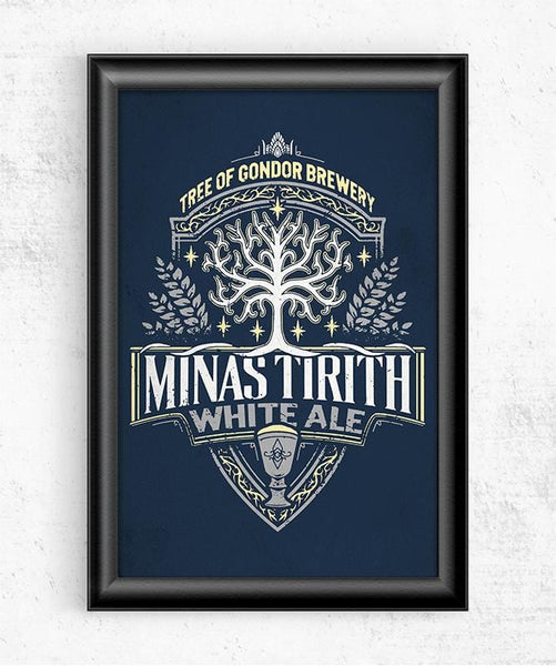 Minas Tirith White Ale Posters by Cory Freeman Design - Pixel Empire