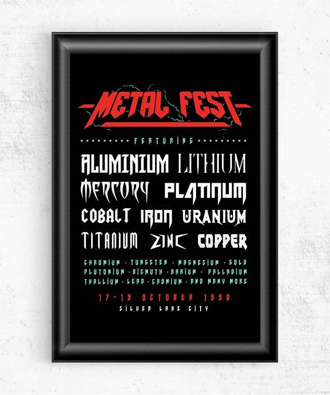 Metal Fest Posters by Grant Shepley - Pixel Empire