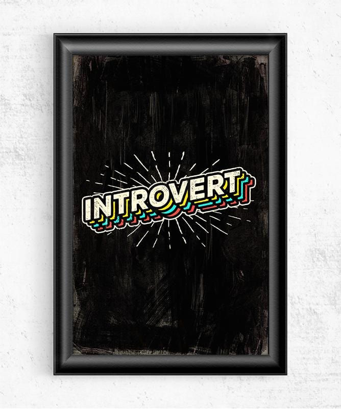 Introvert Posters by Ronan Lynam - Pixel Empire