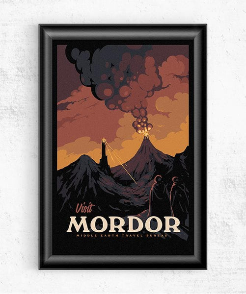 Visit Mordor Posters by Mathiole - Pixel Empire
