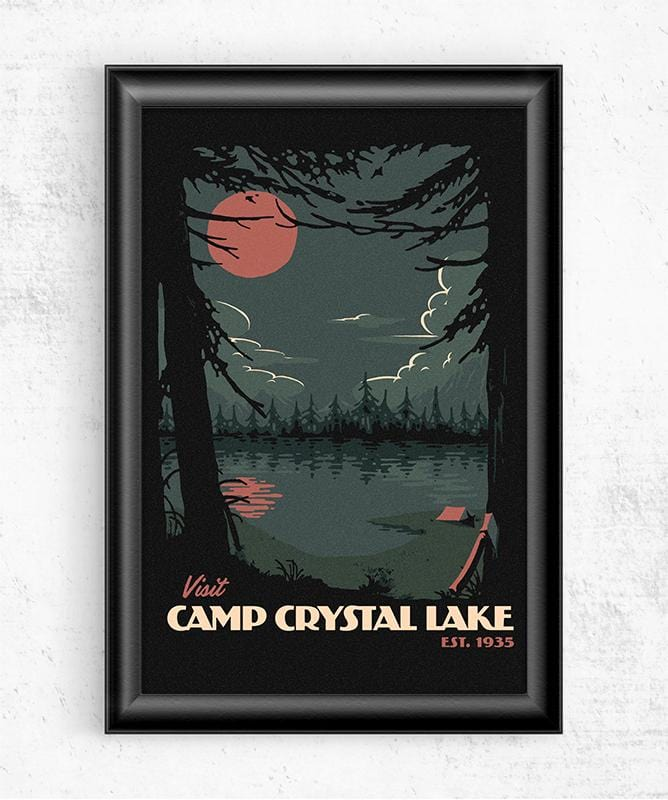 Visit Crystal Lake Posters by Mathiole - Pixel Empire