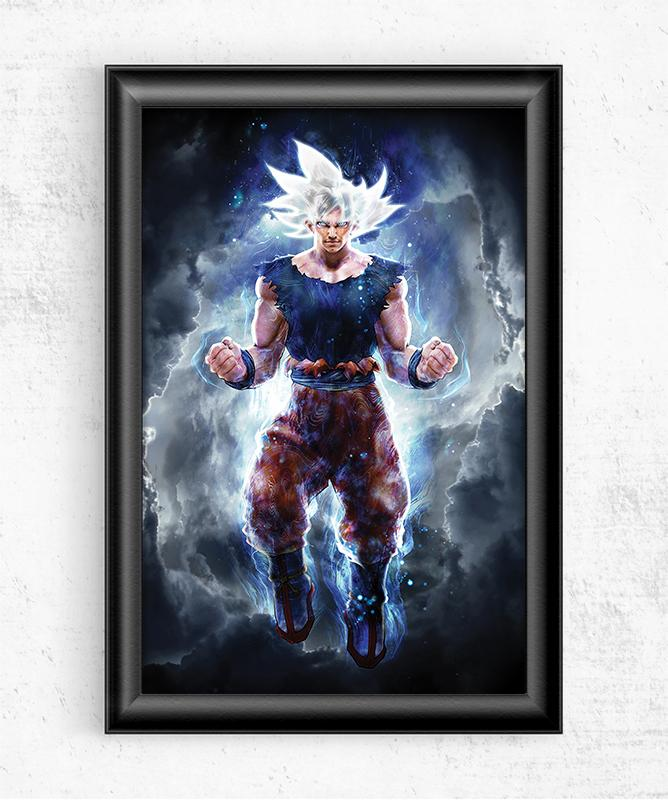 Ultra Instinct Mastered Posters by Barrett Biggers - Pixel Empire