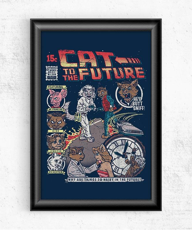 Cat to the Future Posters by COD Designs - Pixel Empire