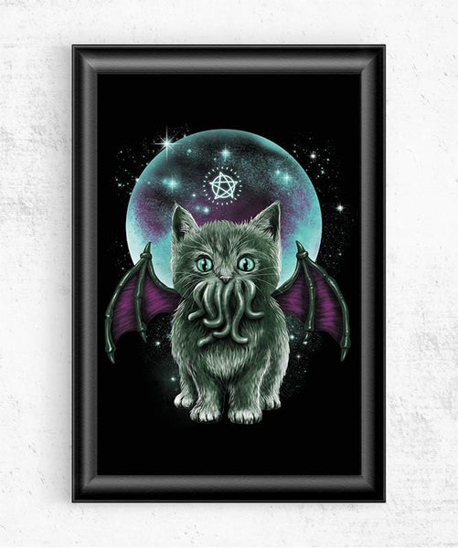 Cosmic Purrrcraft Posters by Vincent Trinidad - Pixel Empire