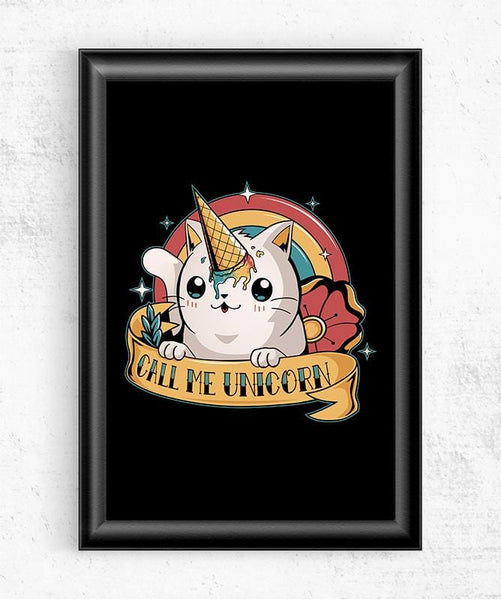 Call Me Unicorn Posters by Typhoonic - Pixel Empire