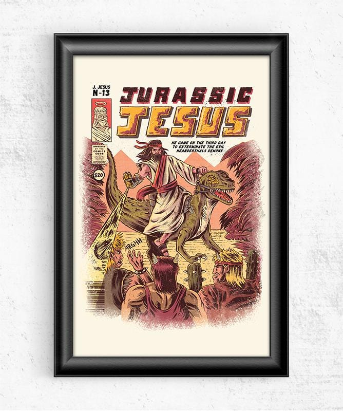 Jurassic Jesus Posters by Ilustrata - Pixel Empire