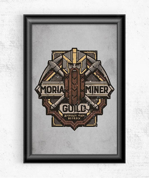 Moria Miner Guild Posters by Cory Freeman Design - Pixel Empire