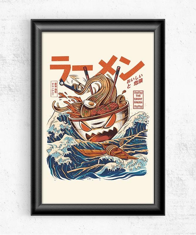 Great Ramen Off Kanagawa Posters by Ilustrata - Pixel Empire