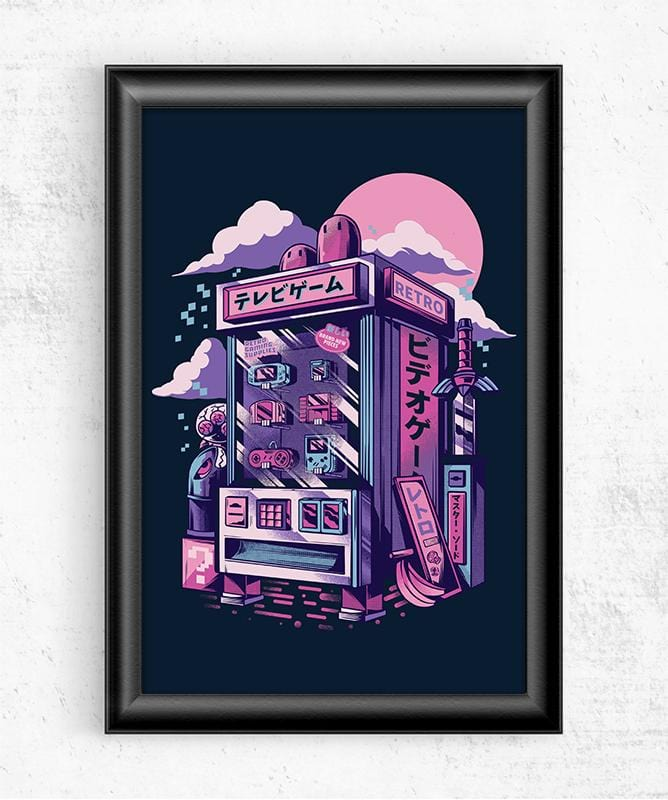 Retro Gaming Machine Posters by Ilustrata - Pixel Empire