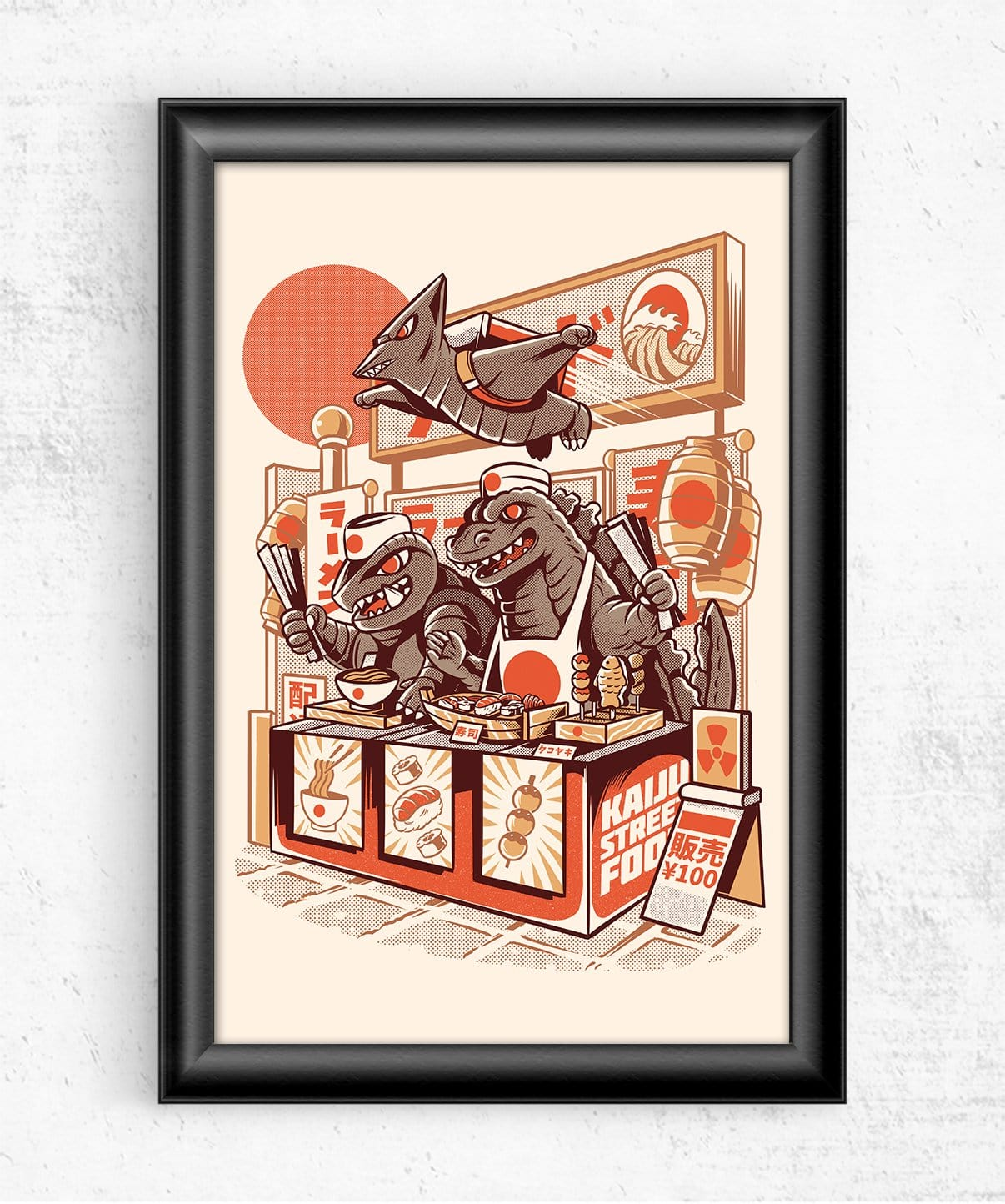 Kaiju's Street Food Posters by Ilustrata - Pixel Empire