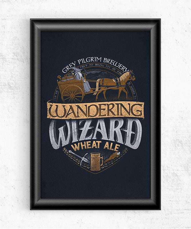 Wandering Wizard Wheat Ale Posters by Cory Freeman Design - Pixel Empire