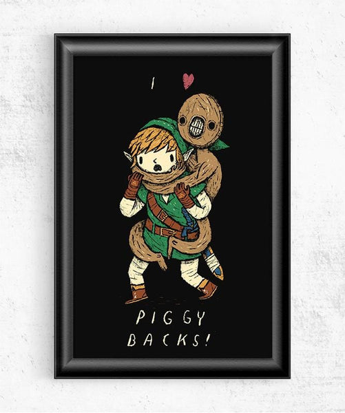 Piggy Backs Posters by Louis Roskosch - Pixel Empire