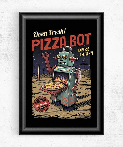 Pizza Bot Posters by Vincent Trinidad - Pixel Empire