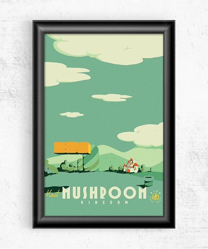 Visit Mushroom Kingdom Posters by Mathiole - Pixel Empire
