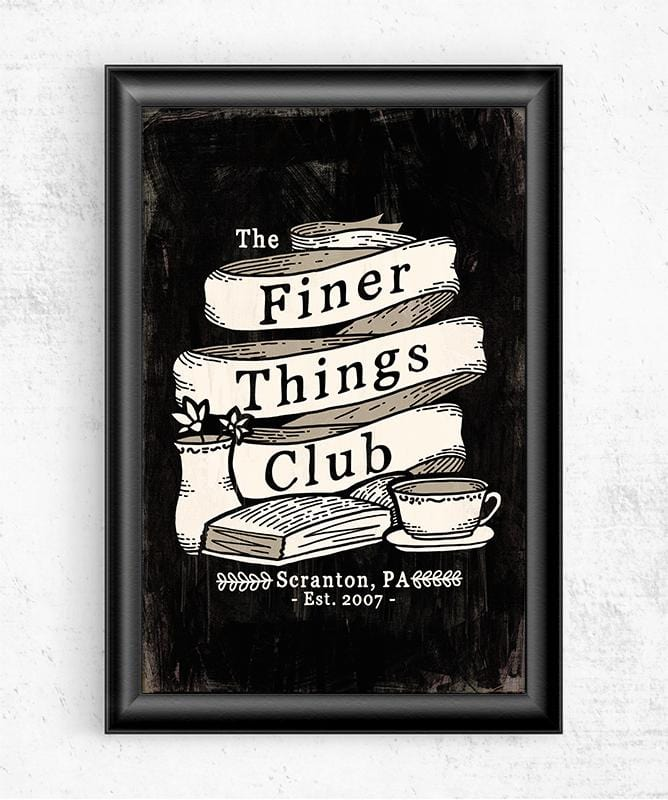 Finer Things Club Posters by Ronan Lynam - Pixel Empire