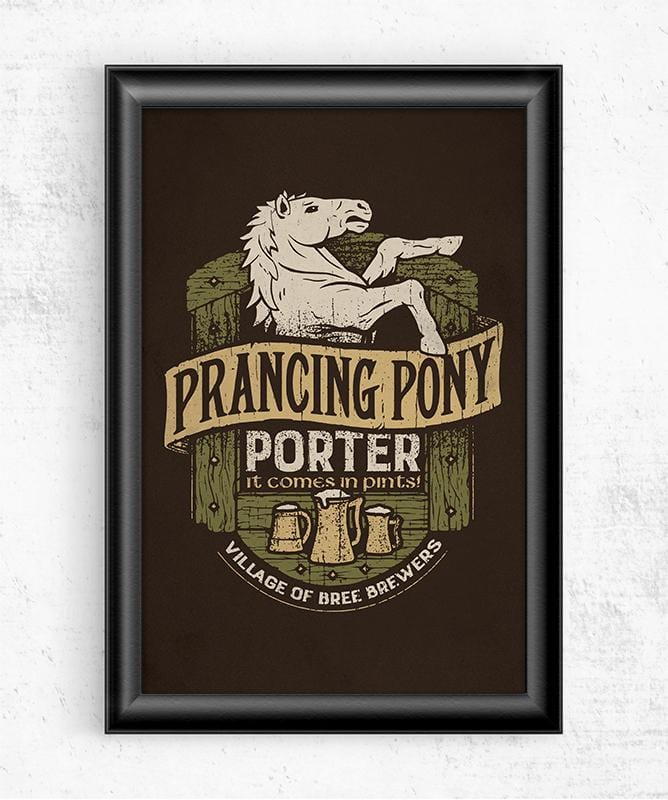 Prancing Pony Porter Posters by Cory Freeman Design - Pixel Empire