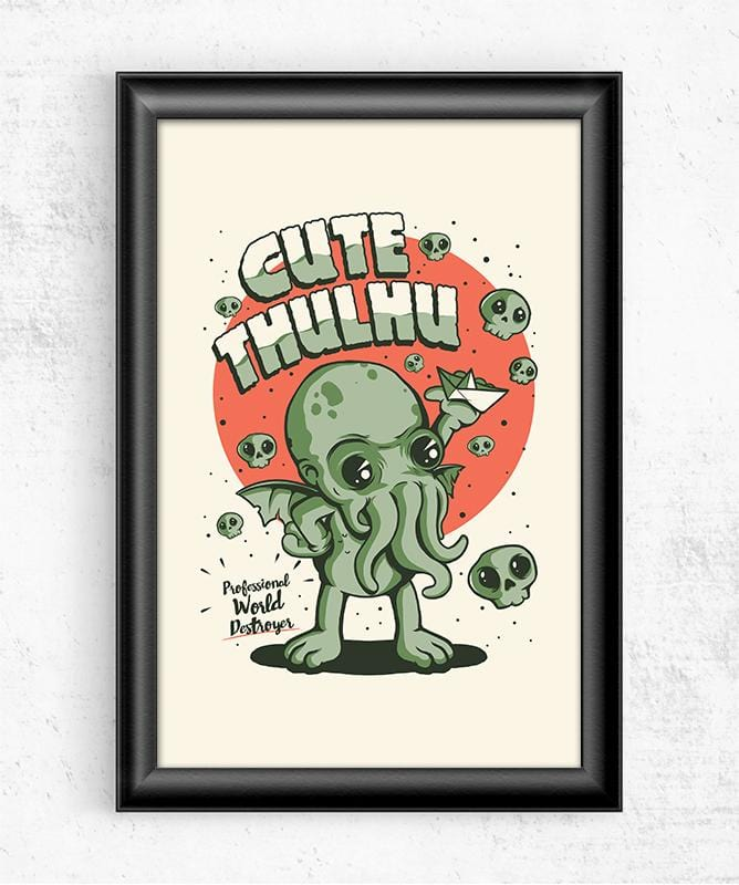 Cutethulhu! Posters by Ilustrata - Pixel Empire